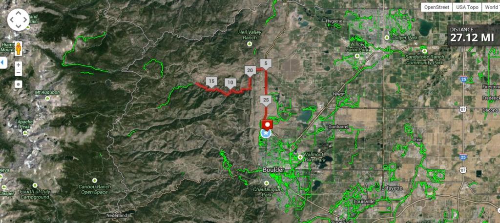 Boulder route